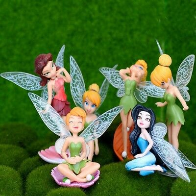 6Pcs Flower Fairy Fairy Pixie Wings Family Miniature Dollhouse Garden Gifts Toy