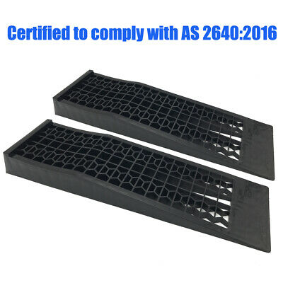 Portable 3 Ton Low Profile Car Ramps Pair 70mm Rise Antiskid Lowered Car Ramp