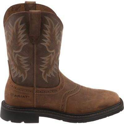 Ariat Mens Sierra Square Toe Plain Toe Work Western Boots 10010148