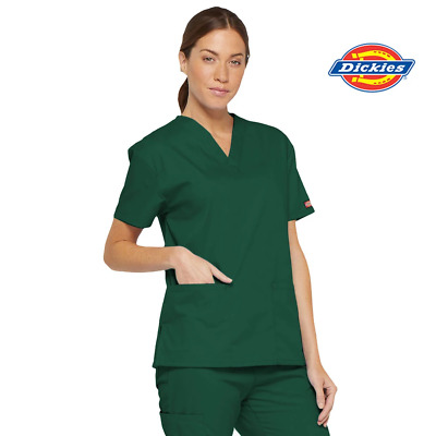 86706 Dickies Womens Hospital Scrubs Top Nurse Doctor Medical Surgical Uniform