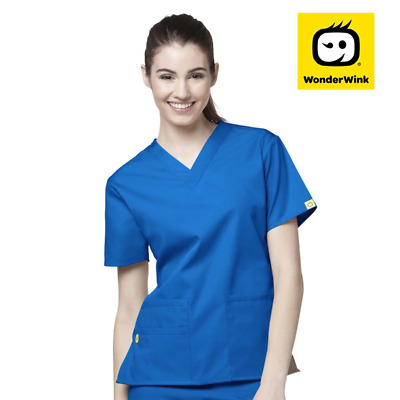 6016 Womens V-Neck Hospital Scrub Top Nurse Nursing Medical Doctor Uniform