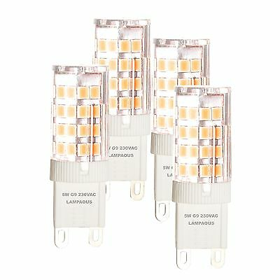 LAMPAOUS 5W G9 LED Bulbs 40W Halogen G9 Light Bulbs Replacement Warm ...