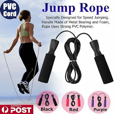 Aerobic Exercise Boxing Skipping Jump Rope Adjustable Bearing Speed Fitness DB