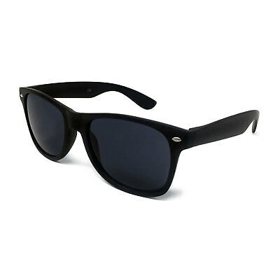 MATTE BLACK Sunglasses Mens Ladies Retro Shades Unisex Classic Festival Vintage