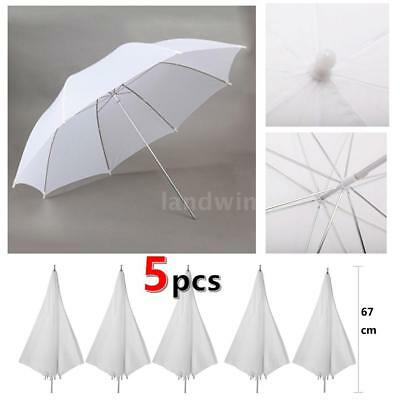 5pcs 40in/103cm Studio Flash Translucent White Soft Umbrella for Flashes G5T1