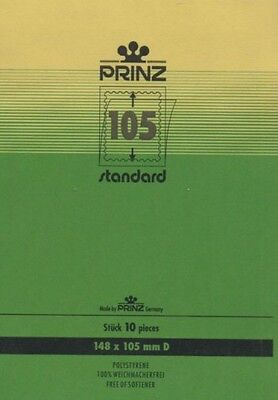 Prinz Stamp mounts blocks black backed per 10 - size (w x h) 148 x 105mm