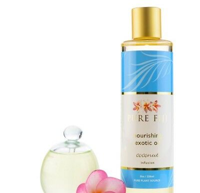 multipurpose pure  Fiji exotic bath oil & body oil 235ml Coconut