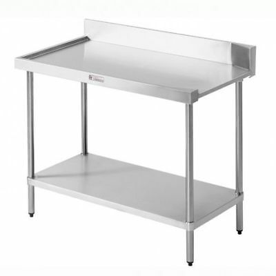 Simply Stainless Steel Dishwasher Inlet Bench 1200x600x900mm, Left Side