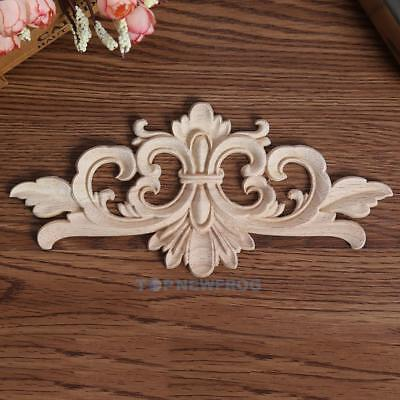 European Landscape Flowers Wooden Decals Carving for Home Furniture Door Decor