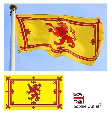 Large 5ft x 3ft SCOTLAND RAMPANT RED LION FLAG Sport Scottish Supporters Fans