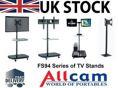 FS94 Serie LED/LCD TV Trolley Pavimento Stand w/Staffa Di Fissaggio &