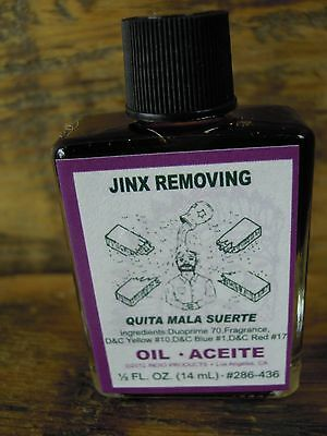 Jinx Removing anointing magical oil spell supplies spells witchcraft cleansing
