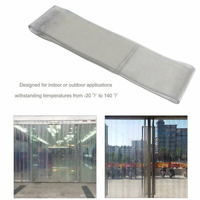 190X2mmX2M PVC Plastic Strip Curtain+Hanging rail keel Fr Double pedestrian door