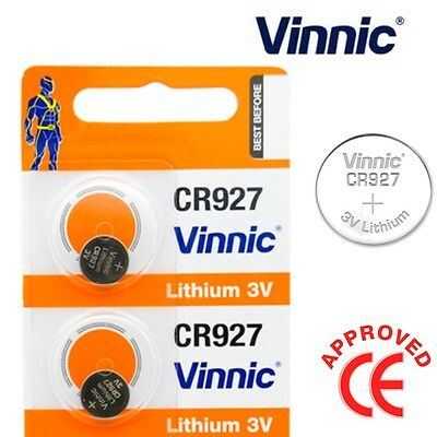 2 x Vinnic Lithium 3v CR927 0%Hg Coin Battery CL927 ECR927 BR927 Button Cell Toy