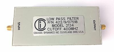 Coaxial Dynamics Low Pass Filter model 2134 Cut Off 400 MHz