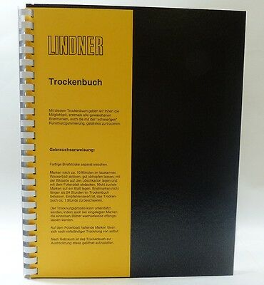Lindner stamp drying book - A4 size with laminated page dividers ref 845