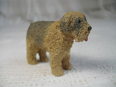 "Vintage Irish Wheaten Terrier ~ 2"" Tall Dog ~ 2-5/8"" Long ~ Plastic? or Resin?"