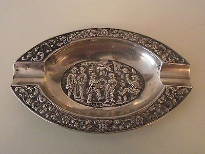 Attractive Vintage Dutch Silver Ashtray