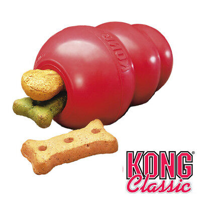 KONG Classic Dog Toy Red Natural Rubber Strong Tough Bouncy Dog Chew 6 Sizes