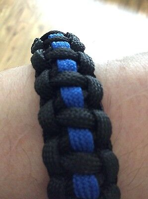 Thin blue line police quality wrist band            100% HAPPY REPEAT CUSTOMERS