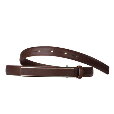 DuDu Ladies Belt Made in Italy in Full Grain Real Leather Adjustable 19mm Wide w