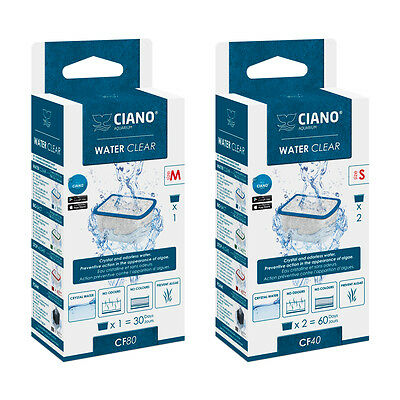 WATER CLEAR Filter Media Replacement Cartridge Small / Med CF40 CF80 CFBIO Ciano