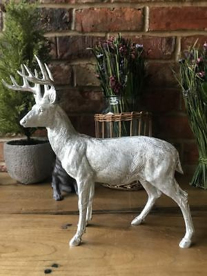 Vintage Stag Deer Reindeer Antlers Head Decorative Ornament Sculpture Large 35cm