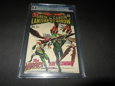 Green Lantern 82 CGC 8.5, Green Arrow run by Neal Adams & Denny O'Neil (DC 1971)