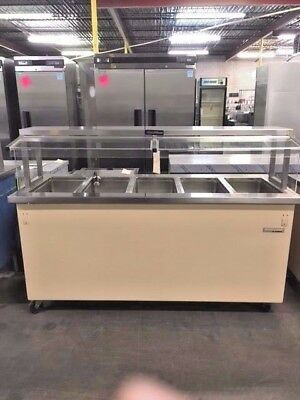 Delfield Kh-5-Nuv, Steam Table 5- Wells W/ Sneeze Guards #11663