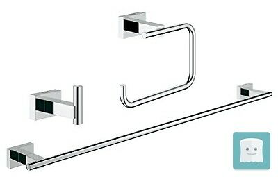 Grohe 40777001 Essentials Cube New, Set Accessori Bagno 3-In-1, Cromo