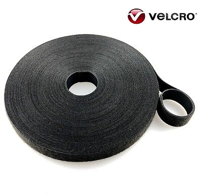 VELCRO® Hook and loop ONE-WRAP® double sided Strapping black and white, green 1m