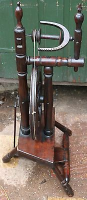 Tidy Looking Small Old Wooden Spinning Wheel For Spares Repair