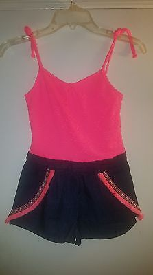 "Brand New Without Tags Limited Too Girls' ""Fringed Look"" Romper Size 6X"