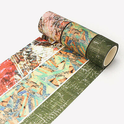 Retro Decor Vintage Style Paper Wash Masking Tape Sticker Craft Scrapbook DIY