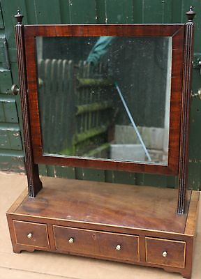 Very Nice Old Quality Looking Wooden Framed Vanity Dressing Mirror With Drawers