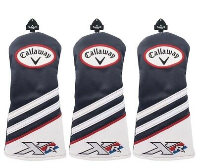 Callaway Golf XR Driver & Fairway Wood Head Cover Set NAVY Headcover 3 5 7