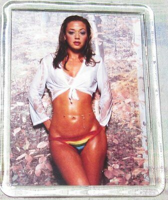 Sexy Lea Remini King Of Queens Close Up Shot Large Acrylic Fridge Magnet
