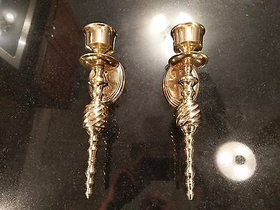 Vintage Solid Brass Wall Candle Sconce