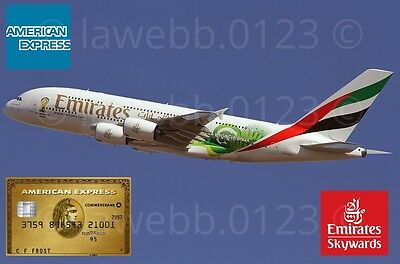 American Express Gold Card Referral - Collect 28,000 Emirates Skyward Airmiles