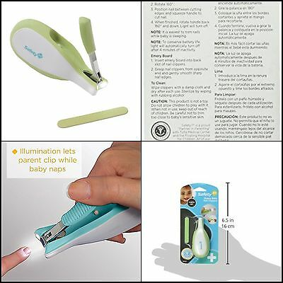 Baby Nail Clippers With Built-In LED Light For 100% Safety Free Shipping HQ Item