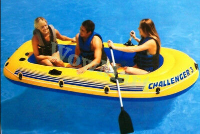 New Inflatable Intex Challenger 3-Person Boat Raft Oars Set (#68370)