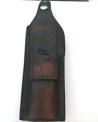 Bucheimer Clark Valencia Calif. Gun holster 46-75 Black Leather
