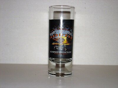 Early to mid 2000's Harley Dealer Dbl Shot Glass- Peterson's HD South- Miami, FL