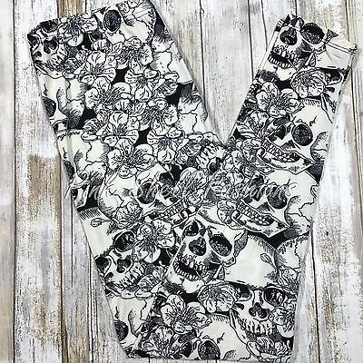 NWT Skulls and Flowers Leggings Butter Soft  OS TC S M L XL