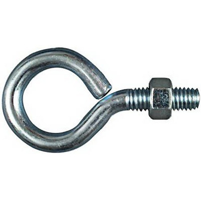 """Stanley National Hardware 2160BC 3/8"""" x 3"""" Zinc Plated Eye Bolt w/Hex Nut"""