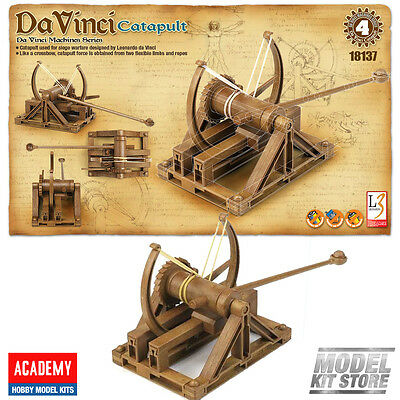 New Academy Plastic Model Kit(18137) Da Vinci Machines Catapult