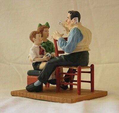 """Norman Rockwell Figurine - """"Nothing Up His Sleeve"""" 1993 Danbury Mint"""
