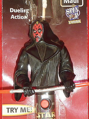 Star Wars Episode 1 Darth Maul SPIN TOP CANDY DUELLING ACTION FIGURE WORKS NIP