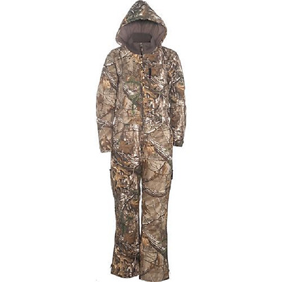 Guide Insulated Realtree X Hooded Hunting Coveralls Silent Water Resistant Twill