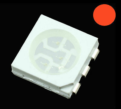 10 x rot 5050 PLCC-6 SMD/SMT LED Chip